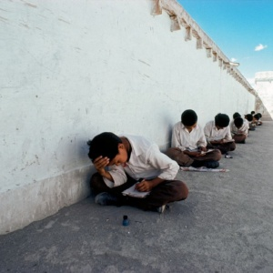 Exam at the Tibetan refugee chlidren's school, Ladakh, India