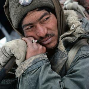 Instant de plenitude sur le Tchadar, Zanskar, Himalaya indien     /