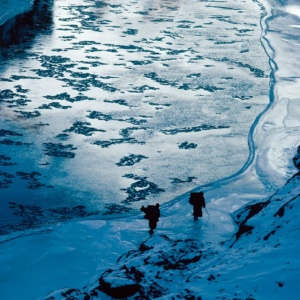 Journey on the ice of the Frozen River, Zanskar, Indian Himalayas