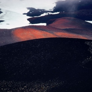 Lava on the slopes of the Osorno volcano, Chile