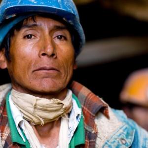 Cerro Rico miner, Potosi, Bolivia