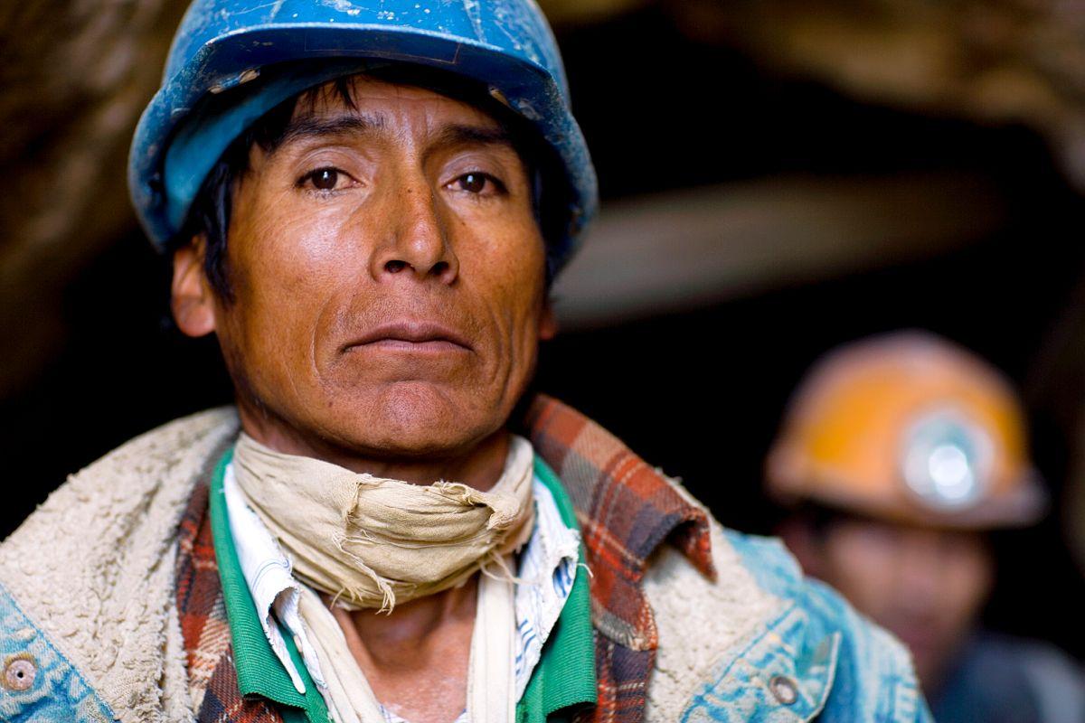 Mineur du Cerro Rico a Potosi, Bolivie / Cerro Rico miner, Potosi, Bolivia