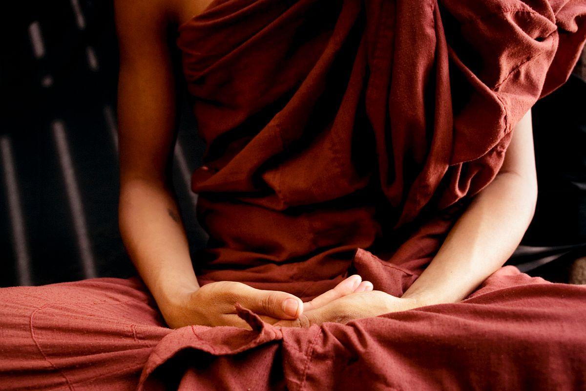 Moine au monastere de Nat Htaung Tike, Myanmar / Monk at the Nat Htaung Tike monastery, Myanmar