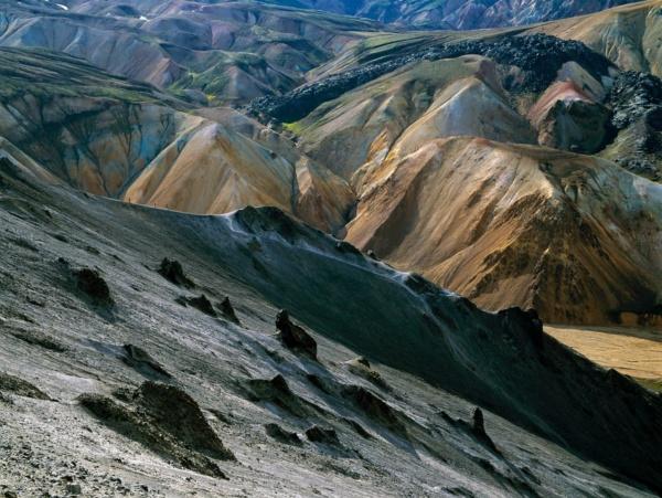 Debut de la coulee de lave Laugahrau, Islande